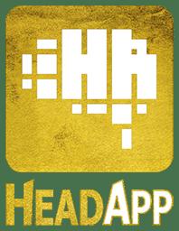 Goldenes HeadApp-Logo