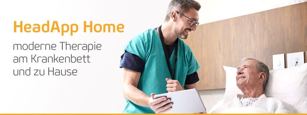 HeadAppHome - kostenfrei am Krankenbett und zu Hause