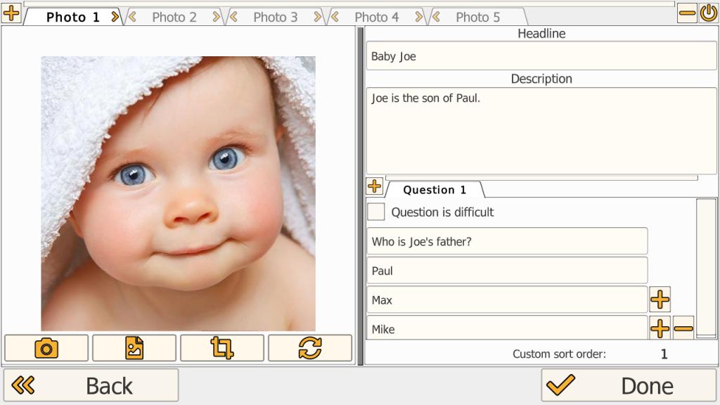 ScreenShot MyWorld Edit Window