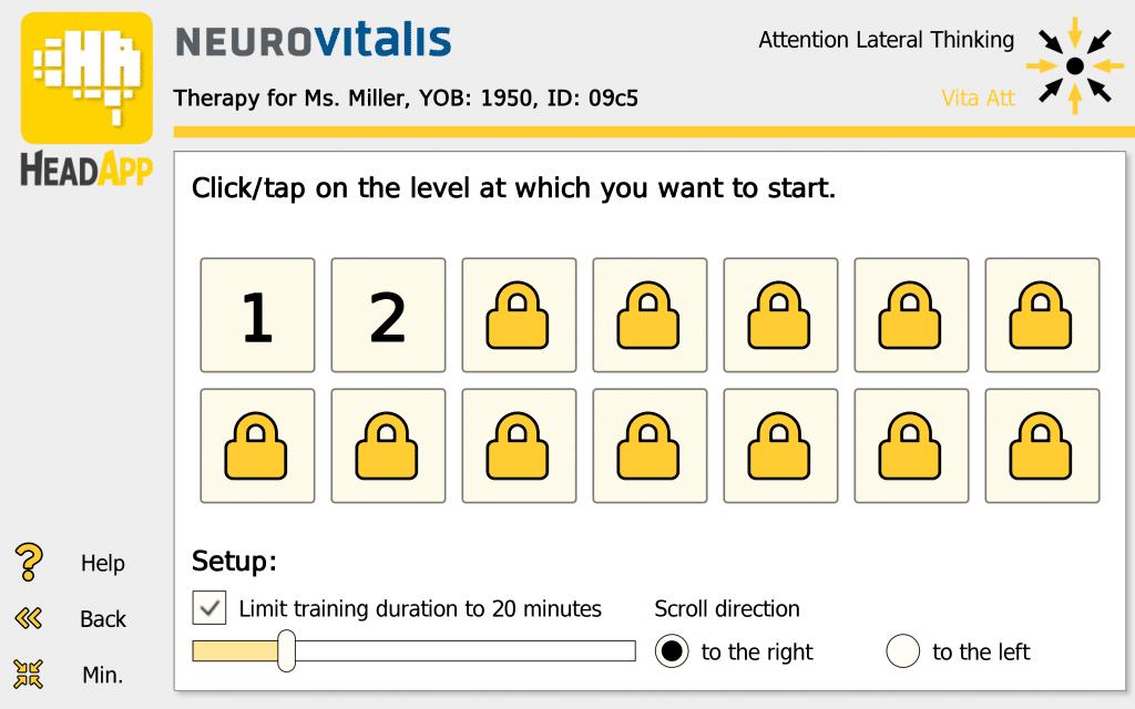 "NEUROvitalis Training ""Attention"" (Setup)"
