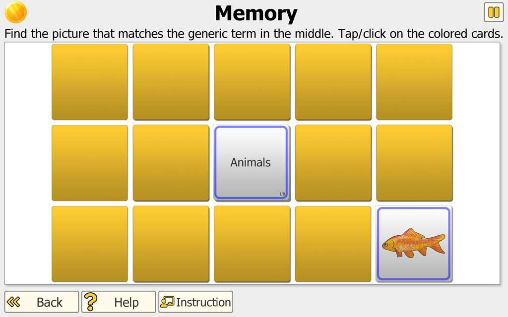 """NEUROvitalis training """"Memory"""" - find matching pair"""