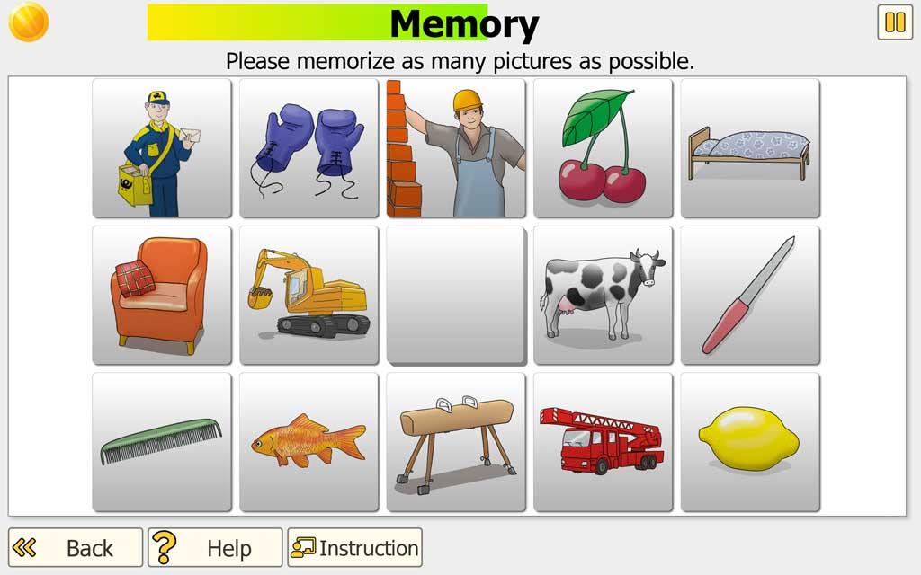 "NEUROvitalis training ""Memory"" - memorizing"