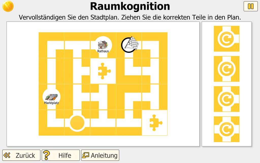 "NEUROvitalis Training ""Raumkognition"" - Stadtplan"