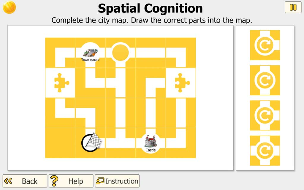 """NEUROvitalis Training """"Spatial Cognition"""" (to complete map)"""