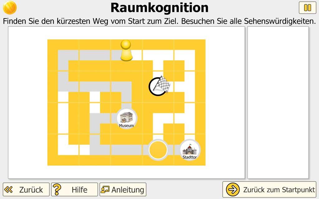 """NEUROvitalis Training """"Raumkognition"""" - Wegfindung"""