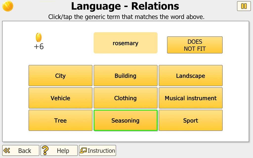 "NEUROvitalis Language training ""Relations"""