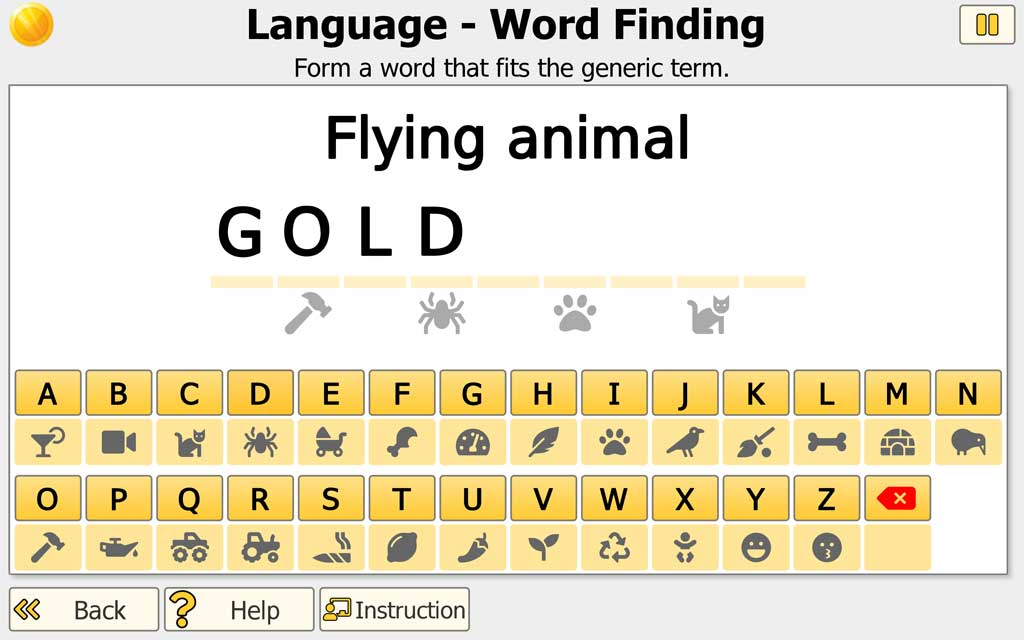 "NEUROvitalis Language training ""Word Finding"""