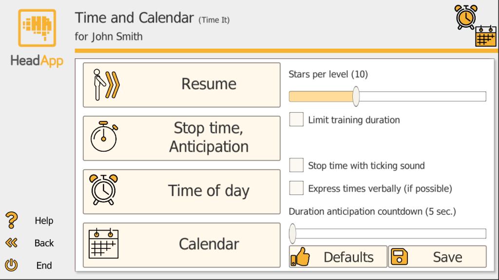 Screenshot Time It Training Setup